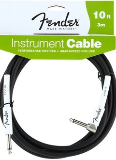 Fender Fender® Performance Series Instrument Cable, 10', Black, Angled