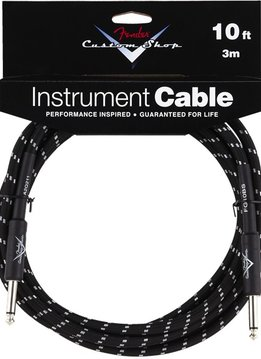 Fender Fender® Custom Shop Cable, 10', Black