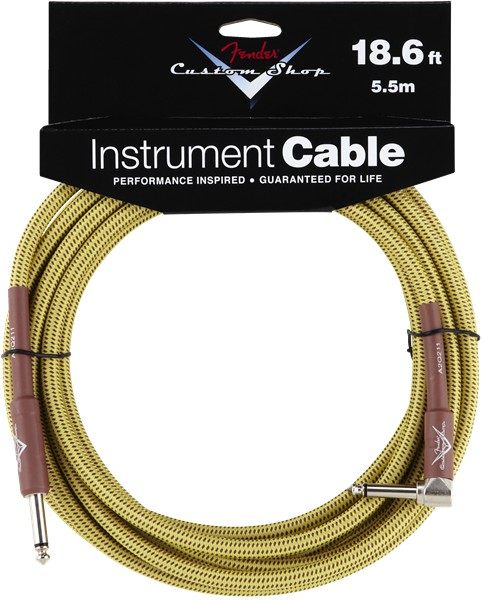 Fender Fender® Custom Shop Cable, 18.6', Tweed, Angled
