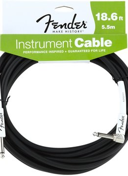 Fender Fender®  Performance Series Instrument Cable, 18.6 ', Angled, Black