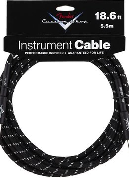 Fender Fender® 18.6' Custom Shop Series Instrument Cable, Black