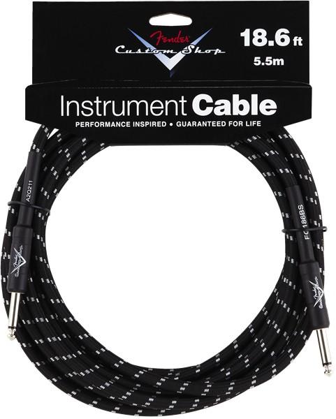 Fender Fender® 18.6' Custom Shop Series Instrument Cable, Black