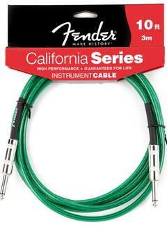 Fender Fender® California Instrument Cable, 10', Surf Green