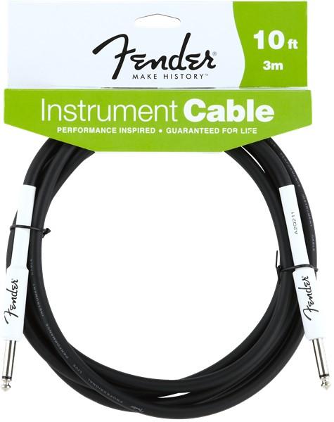 Fender Fender® Performance Series Instrument Cable, 10', Black
