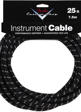 Fender Fender® Custom Shop Cable, 25', Black