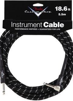 Fender Fender® Custom Shop Cable, 18.6', Black, Angled
