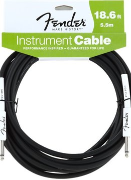Fender Fender® Performance Series Instrument Cable, 18.6', Black