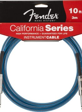 Fender Fender® California Instrument Cable, 10', Lake Placid Blue
