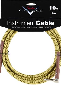 Fender Fender® Custom Shop Cable, 10', Tweed, Angled