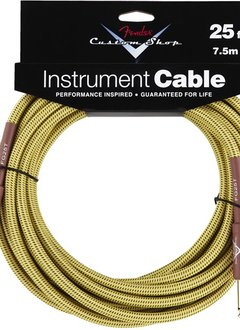 Fender Fender® Custom Shop Cable, 25', Tweed