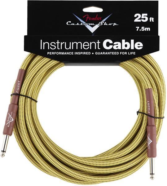 Fender Fender® Custom Shop Cable, 25', Tweed