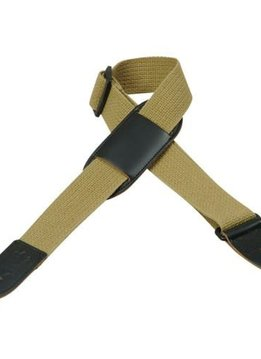 "Levy's Levy's MC8PJ-TAN 1.5"" Cotton Kids' Strap with Leather Pad, Tan"