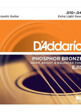 D'Addario D'Addario Phosphor Bronze Extra Light