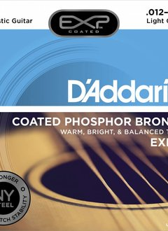 D'Addario D'Addario EXP16 Phos Bronze Coated Acoustic Strings, Light