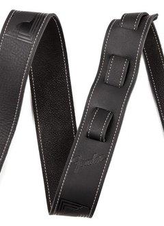 Fender Fender® Monogram Leather Strap, Black