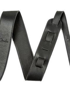 "Fender Fender Artisan Crafted Leather Strap,  2.5"" Black"