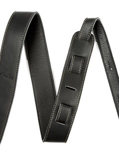 "Fender Fender Artisan Crafted Leather Strap,  2"" Black"