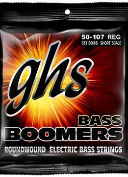 GHS GHS 3035 Bass Boomers 4-String Bass Set, Short Scale 50-107
