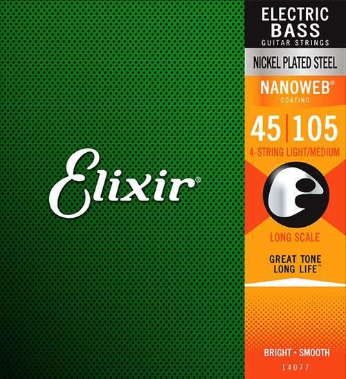 Elixir Elixir Nanoweb 5-String Bass, Nickel, Light 45-130