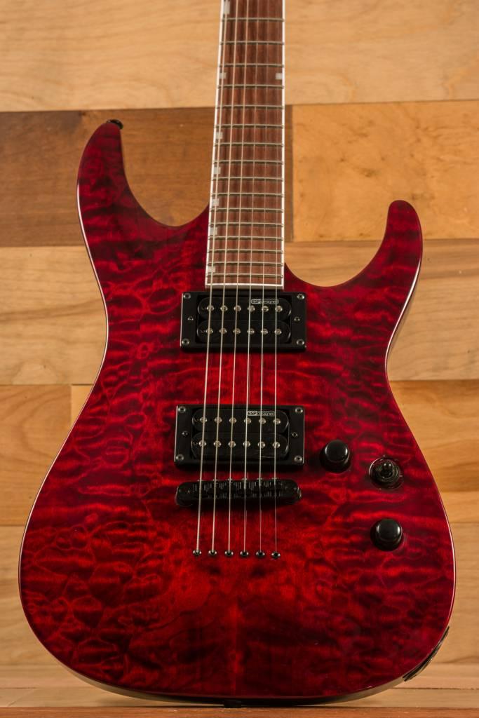 ESP ESP LTD MH-200QMNT, See Thru Black Cherry