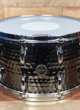 Gretsch Gretsch 8x14 Hammered Black Steel Snare Drum