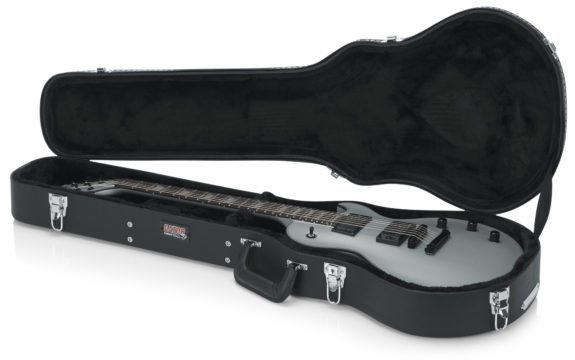 Gator Cases Gator Deluxe Wood Les Paul® Style Case, Black