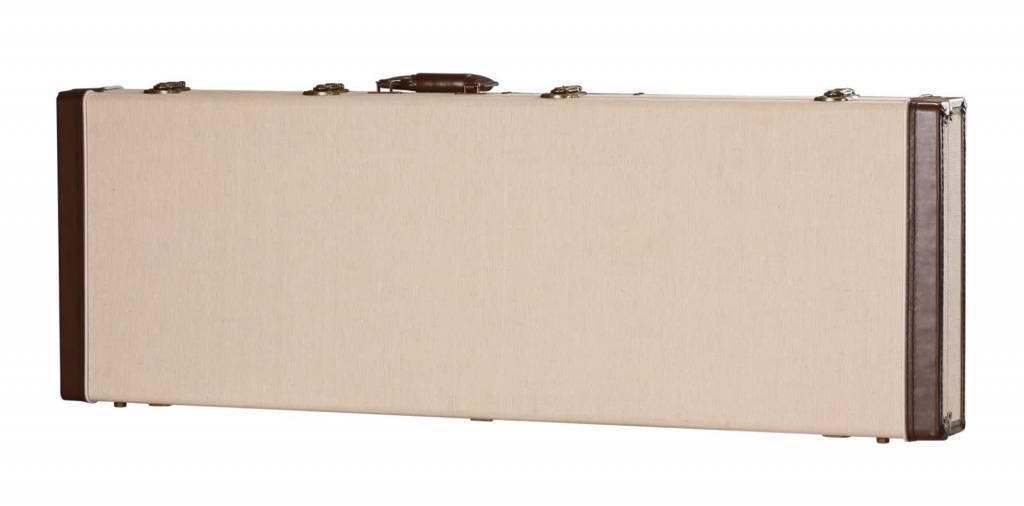 Gator Cases Gator Deluxe Wood Case for Bass Guitar, Journeyman Burlap Exterior