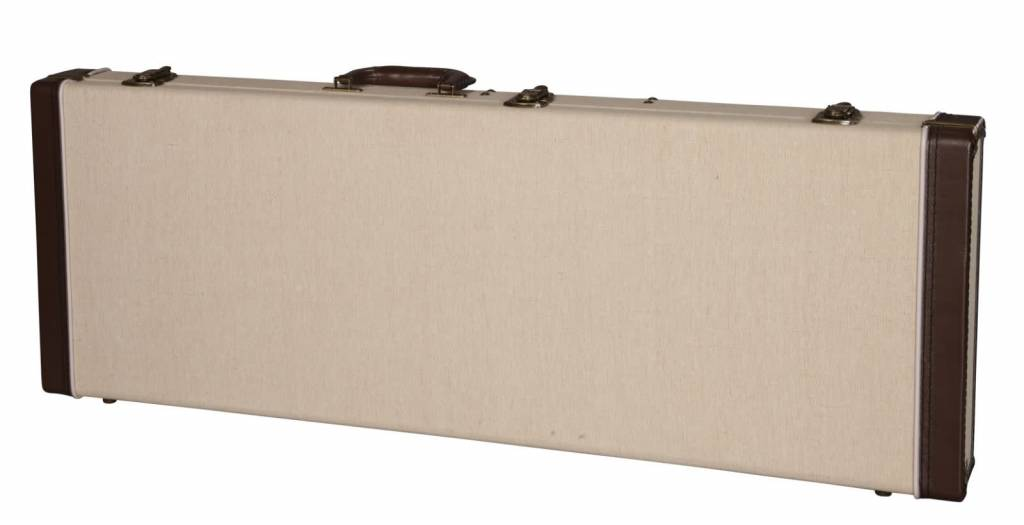 Gator Cases Gator Deluxe Wood Case for Standard Electric Guitars, Journeyman Burlap Exterior