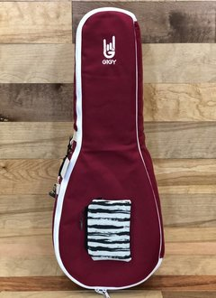 GiGY GiGY Tenor Ukulele Gig Bag - Royal Red/White, Includes Mini Tote & Handle