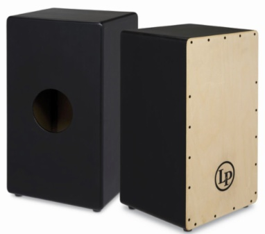 LP LP Limited Edition Black Box Cajon with Natural Face