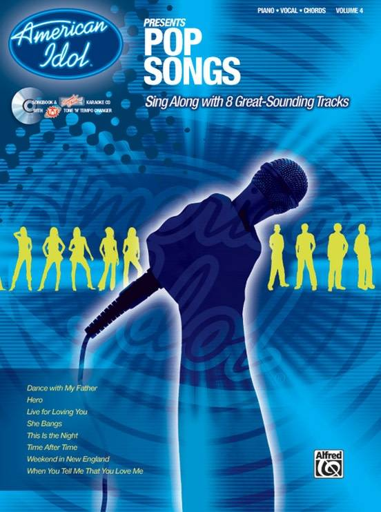 American Idol Pop Songs Book for Piano, Vocal, and Chords