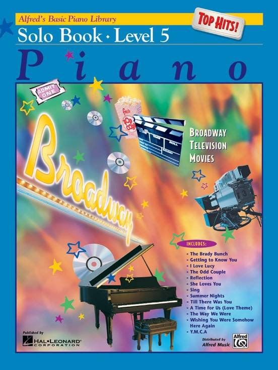 Alfred's Basic Piano Solo Book Level 53a Top Hits!