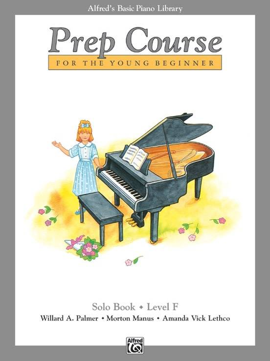 Alfred's Basic Piano Prep Course Solo Book F