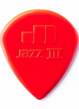 Dunlop Dunlop Jazz 3 Red Nylon Picks, 6-pack
