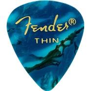 Fender Fender Ocean Turquoise Thin Picks, 12-pack