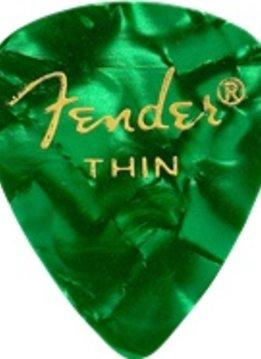 Fender Fender Green Moto Thin Picks, 12-pack