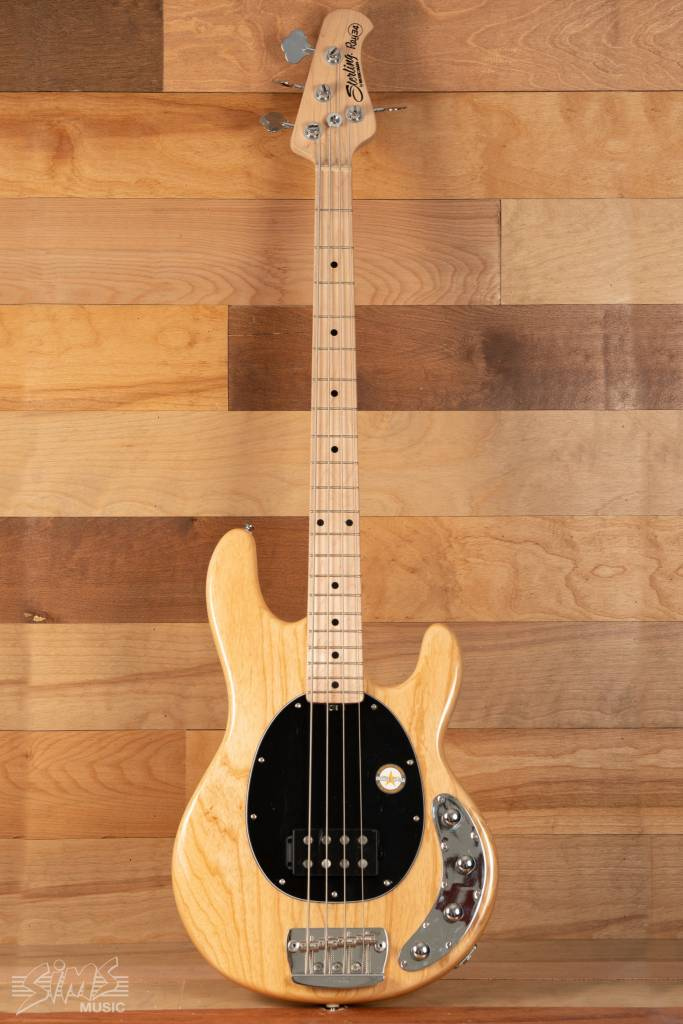 Sterling Sterling RAY34 Electric Bass, Natural, Maple Fingerboard - Mint