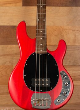 Sterling Sterling Sub Series 4 Electric Bass, Transparent Red, Rosewood Fingerboard