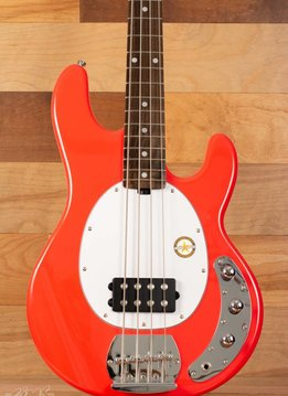 Sterling Sterling Sub Series Ray4 Electric Bass, Fiesta Red, Rosewood Fingerboard - Mint