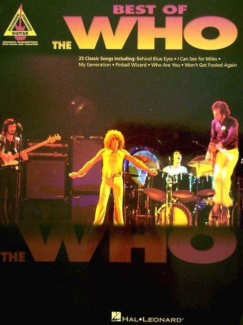 Hal Leonard Best of the Who's Guitar Recorded Versions