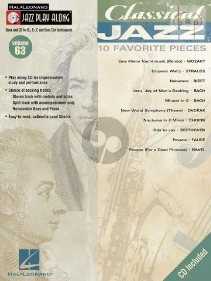 Hal Leonard Classical Jazz - 10 Favorite Pieces, Jazz Play-Along