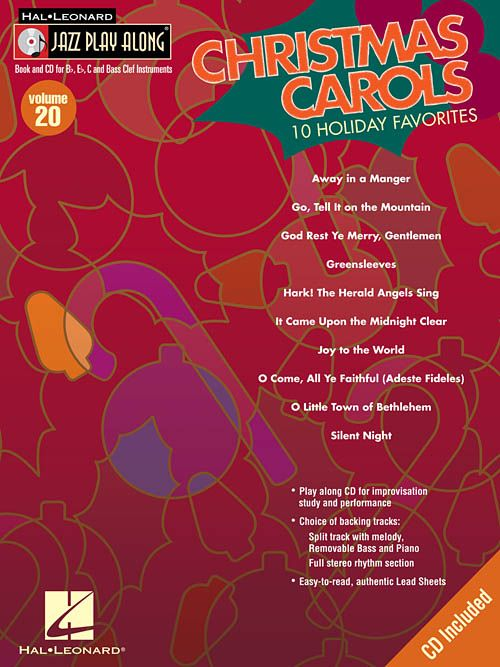 Hal Leonard Christmas Carols Jazz Play Along