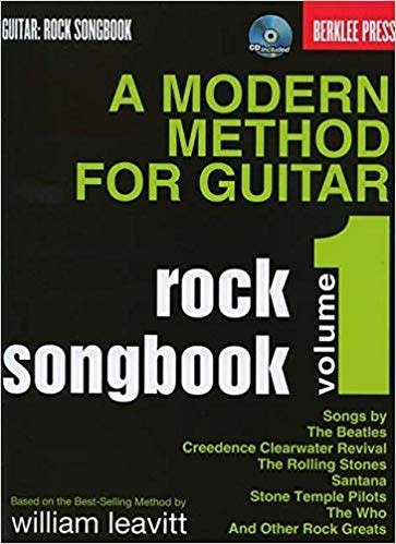 Hal Leonard Modern Method For Guitar Rock Songbook - (Book/CD)