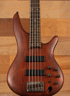 Ibanez Ibanez Soundgear 500 Series 5 String Bass, Brown Mahagony