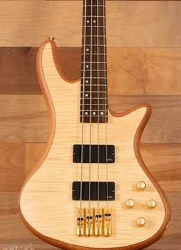 Schecter Schecter Stiletto Custom-4 Electric Bass, Natural - Mint
