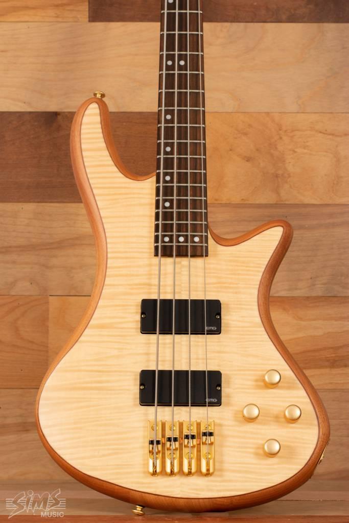 Schecter Schecter Stiletto Custom-4 Electric Bass, Natural - Mint