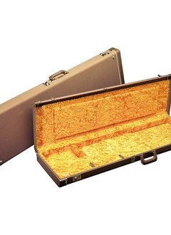 Fender Fender Deluxe Stratocaster®/Telecaster® Case, Brown with Gold Plush Interior