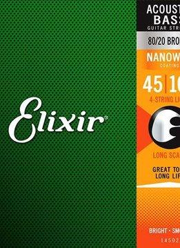 Elixir Elixir Acoustic Bass 80/20 Bronze with Nanoweb Coating
