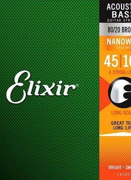 Elixir Elixir Nanoweb Acoustic Bass 80/20 Bronze, Light 45-100