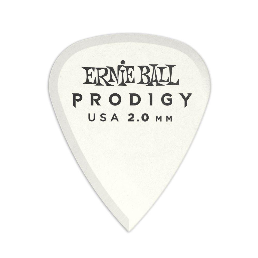 Ernie Ball Ernie Ball 2.0mm White Standard Prodigy Picks 6-Pack
